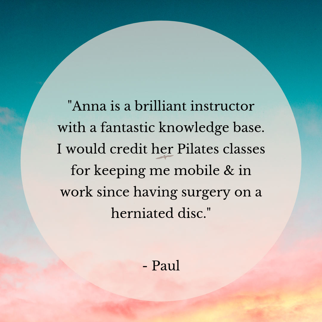 Base Pilates York Testimonial - Client Feedback about my Pilates services